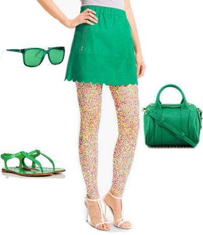 گلچینی از رنگ لباس، کیف،کفش از نظر مجله Elle