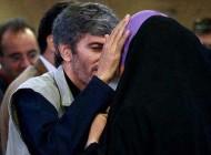 بوسه عاشقانه یک زن در یک مراسم در تهران+عکس