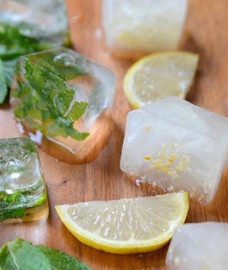 روش هایی برای تزیین یخ در سفره برای مهمانان