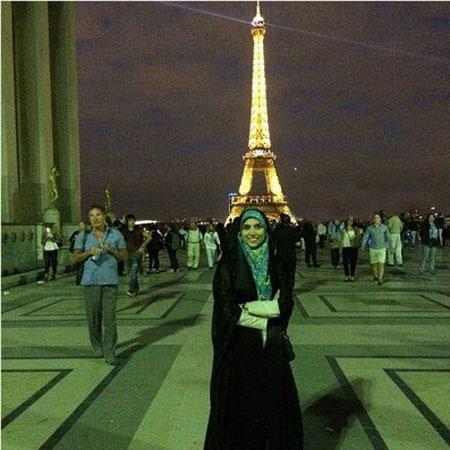 مژده لواسانی با چادر در فرانسه + عکس