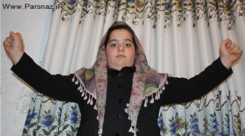رکورد زنی دختری 8 ساله ایرانی با 126 کیلو وزن + عکس