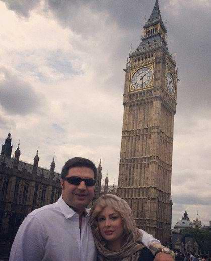 نیوشا ضیغمی و شوهرش در شهر لندن!+عکس