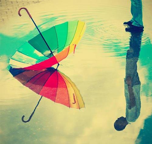عکس های عاشقانه دونفری زیر باران