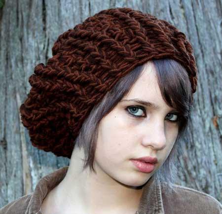 مدل های شال و کلاه بافتنی دخترانه جدید