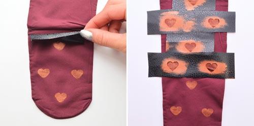 آموزش طراح دار کردن ساپورت دخترانه با قلب (+عکس)