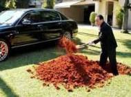 مردی که ماشین چند میلیاردی اش را دفن کرد!!!(عکس)