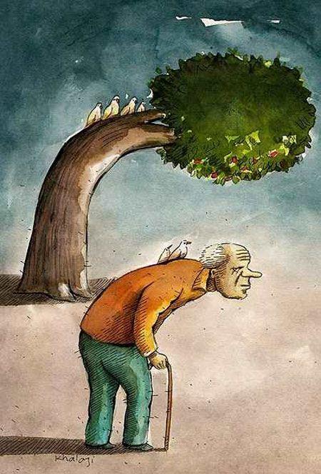کاریکاتور جالب و زیبای روز پدر