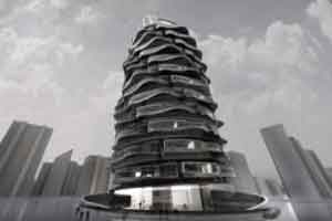 ساختمان 27 طبقه که مانند چرخ و فلک می چرخد (عکس)