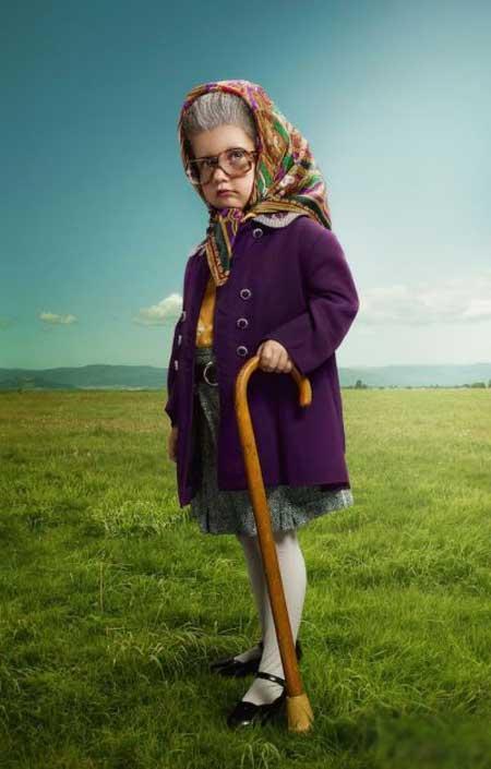 عکس های خنده دار و جالب از کودکان پیر و مسن