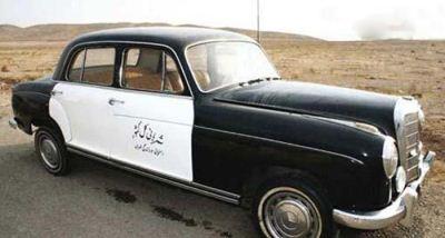 عکس اولین ماشین پلیس ایران در سال 1321