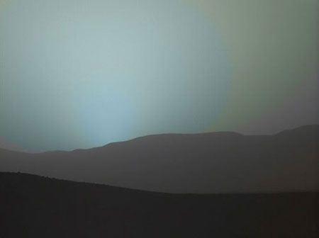 عکسهای طبیعی و دیدنی غروب خورشید در سیاره مریخ