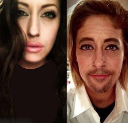دختری عجیب که چهره اش مدام تغییر می کند! عکس