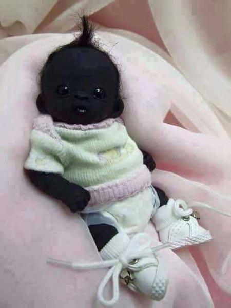سیاه ترین نوزاد جهان کاملا سالم به دنیا آمد + عکس