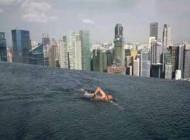 ترسناک ترین وجالب ترین استخر جهان بین دو برج در سنگاپور