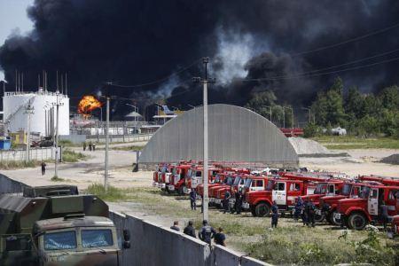 عکس های دیدنی از انفجار مخزن بنزین یورو 4