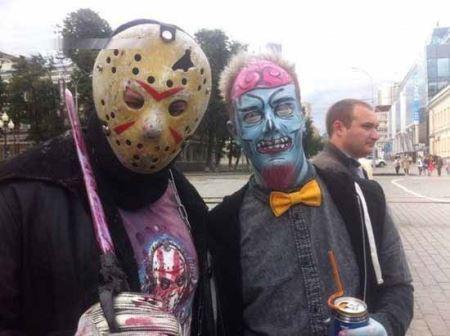 جالب ترین فستیوال زامبی ها وحشتناک در روسیه! عکس