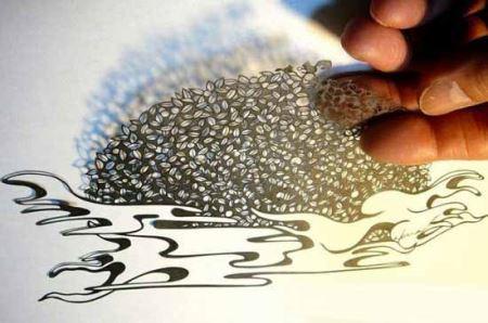 عکس هایی دیدنی و خارق العاده از هنر برش کاغذ