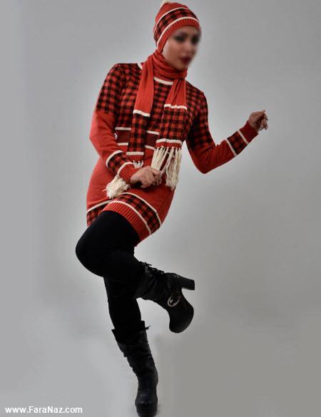 جدیدترین ژورنال عکس مدل های مانتو بافتنی