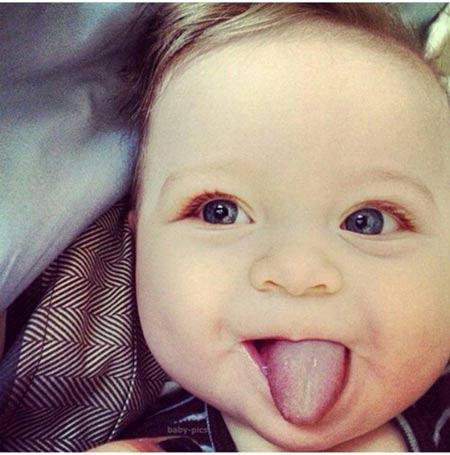 عکس بچه های خوشگل و بامزه با چهره های تخس و مظلوم