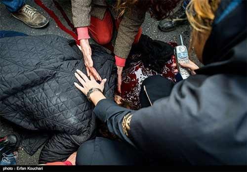 20 دقیقه جان کندن دختر در مجاور بیمارستان میدان فاطمی
