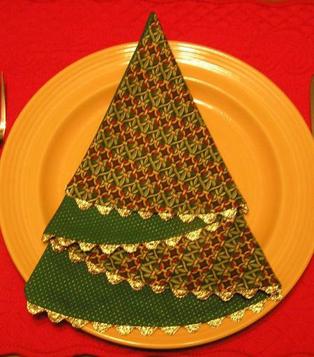 تزیین زیبای دستمال سفره و میز شام کریسمس 2019