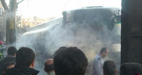 آتش سوزی 5 کیلومتری در شهر ارومیه (عکس)