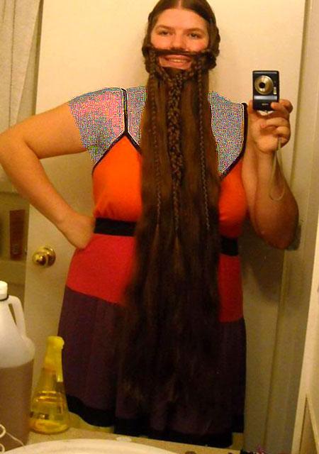 عکس های دختران باحال با ریش های بافته شده عجیب