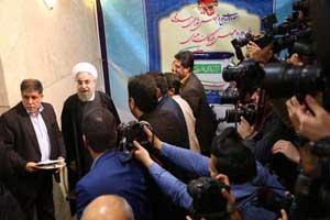 حضور حسن روحانی در انتخابات مجلس خبرگان رهبری (عکس)
