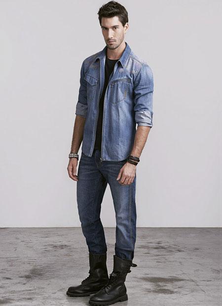 شیک ترین تصاویر انواع پیراهن لی و شلوار لی مردانه جدید
