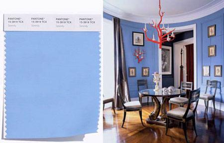 چیدمان و دکوراسیون خانه به رنگ پیشنهادی پنتون سال 2016