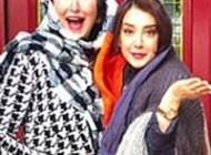 عکس سحر جعفری جوزانی بازیگر در کنار مادر آمریکایی اش