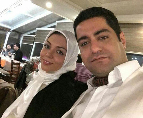 عکسی از شب جمعه آزاده نامداری و همسرش