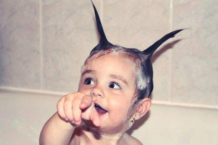 عکسهای خنده دار و بامزه از بچه های خوشگل و بلا