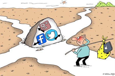 کاریکاتورهای خنده دار و طنز شبکه های اجتماعی رایج