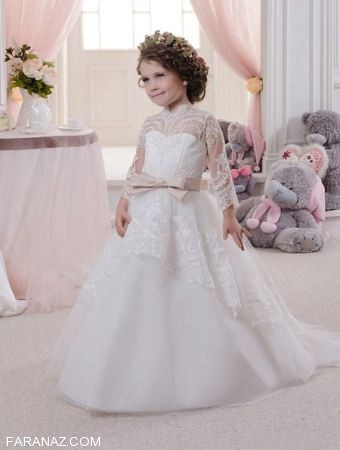مدل لباس عروس کودکانه