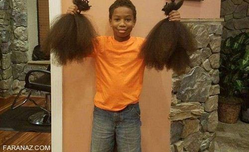 پسر 10 ساله مهربان ترین کودک جهان لقب گرفت (عکس)
