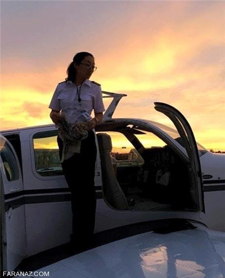 دختر 31 ساله ای که نصف دنیا را پرواز کرده (عکس)