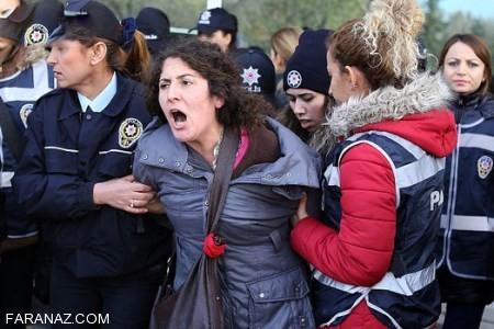 عکسهای خفن از دختران تُرک زیبا در راهپیمایی ترکیه