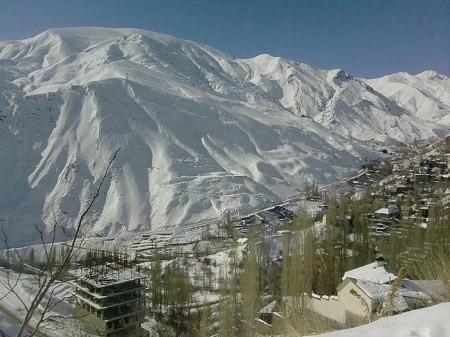 عکسهای جدید پیست اسکی دیزین در شمال تهران