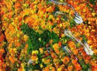 عکس های هوایی زیباترین جاده کوهستانی پرپیچ و خم جهان