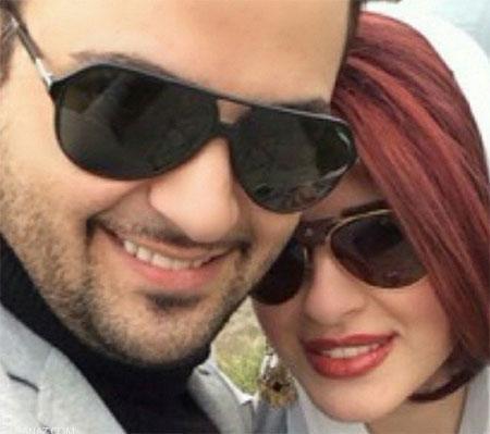عکس های عاشقانه مهدی سلوکی در آغوش همسرش