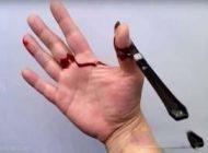 قطع کردن و بریدن انگشت دست مد جدید دختران + تصاویر