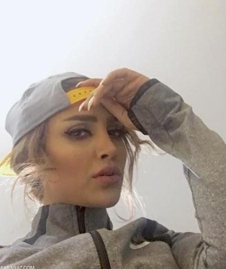 الهام عرب بی حجاب با لباس های اسپرت و خفن