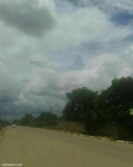 رویت موجودی عجیب و وحشتناک در آسمان ماکوبا