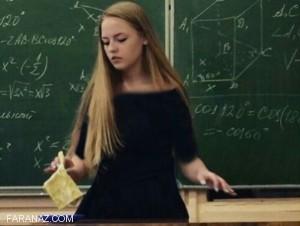 عکس لو رفته دختر 17 ساله دبیرستانی در کلاس ریاضی