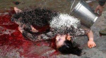 عکس های تکه تکه کردن بدن دختران باکره (تصاویر18+)