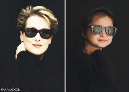 دختر زیبایی که شبیه ستاره های هالیوودی لباس می پوشد
