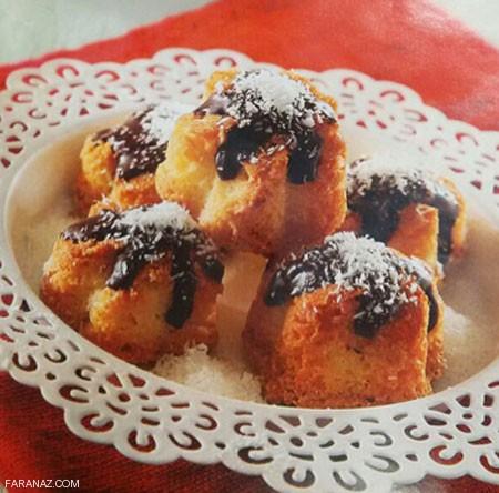 طرز پخت و روش درست کردن شیرینی بادام نارگیل