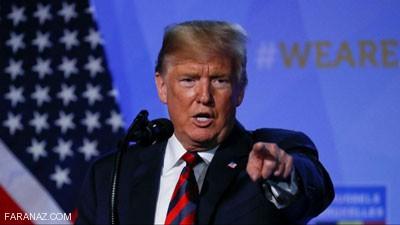 واکنش تند و تهدید آمیز ترامپ به سخنان روحانی (عکس)
