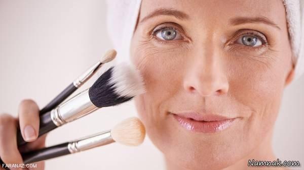 تکنیک های آرایشی برای خانم های مسن